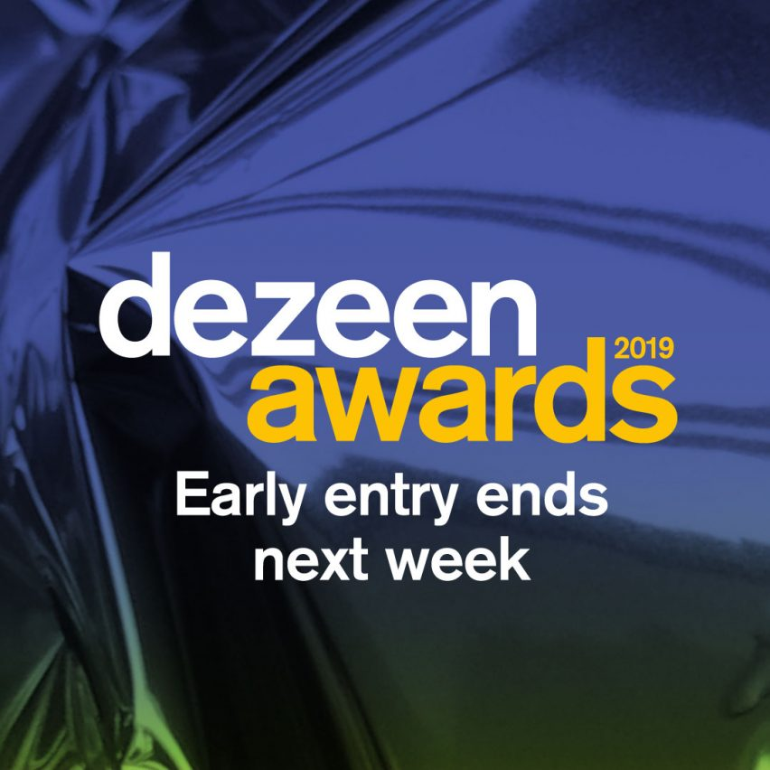 One week left to save 25 per cent on Dezeen Awards 2019 entries