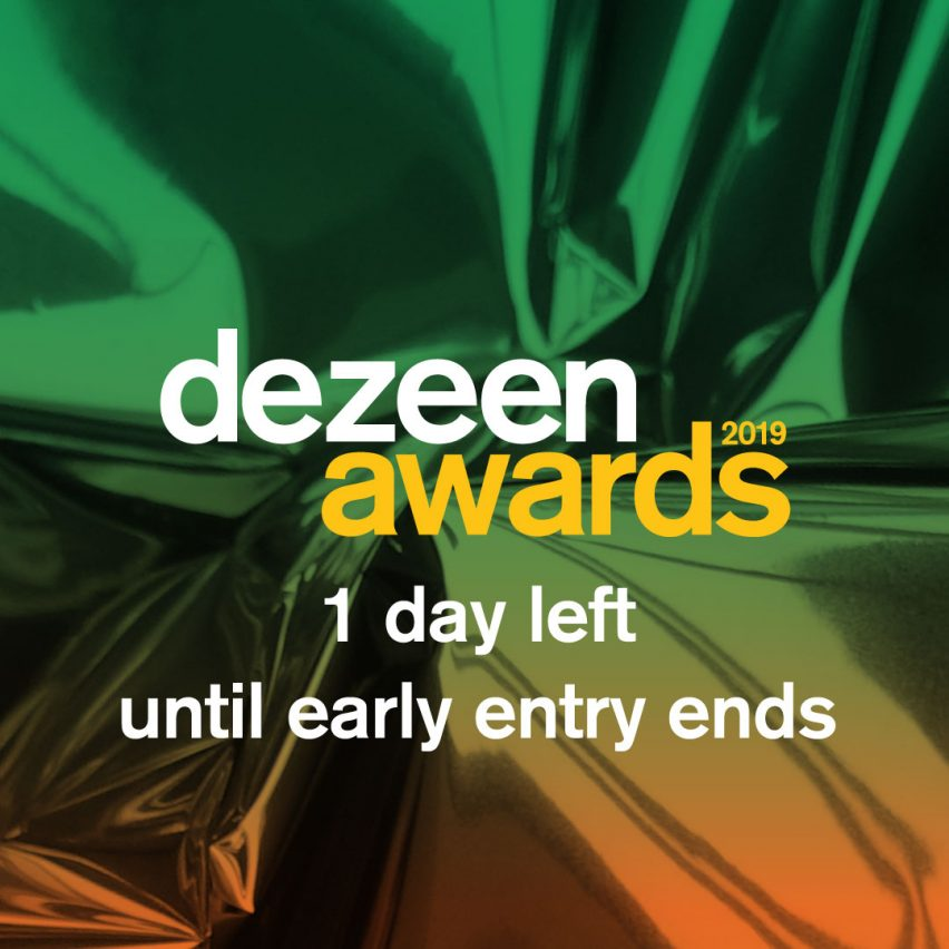 Dezeen Awards 2019 early entry ends in 1 day