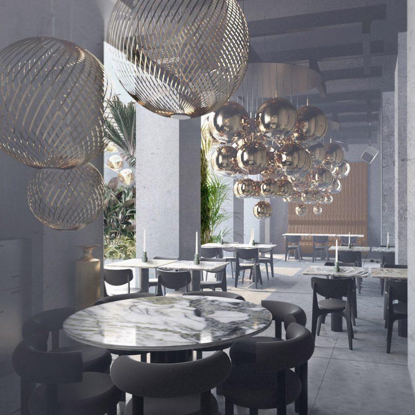 The Manzoni Tom Dixon restaurant and showroom Milan