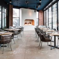 AI3 fuses contemporary and rustic elements for French eatery in Atlanta