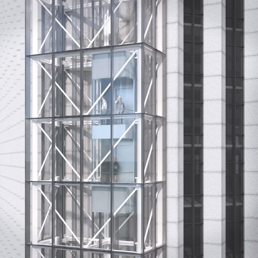 Aon Center Elevator by Solomon Cordwell Buenz