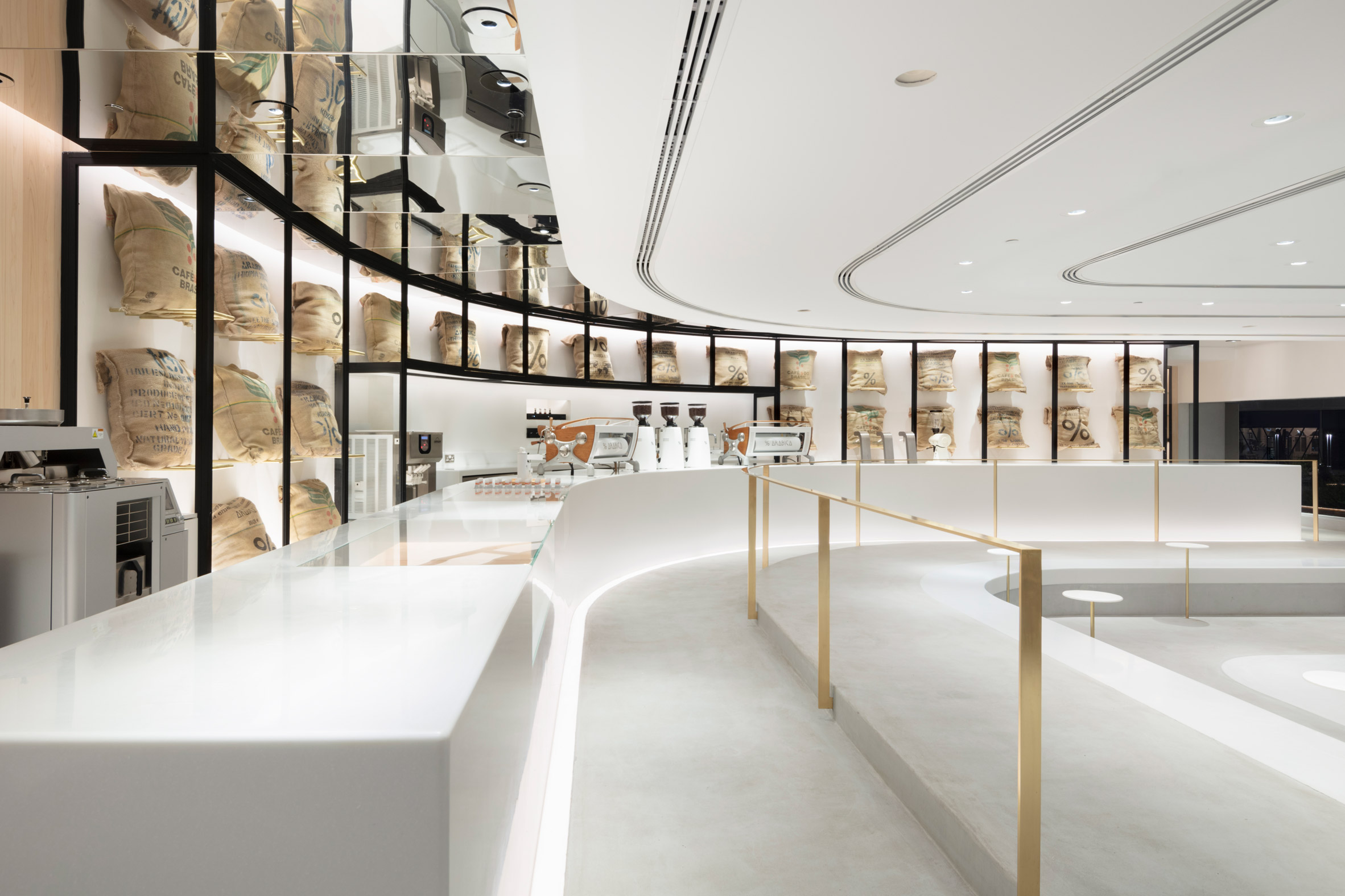 % Arabica Kuwait coffee shop by Nendo