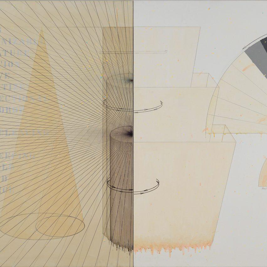 Diagrammatic paintings by Japanese architect Shusaku Arakawa go on show in New York