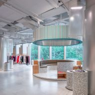 Cityscapes inform interiors of Shanghai fashion store Assemble by Réel