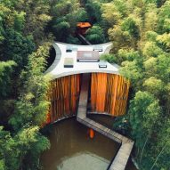 West-Line Studio creates bamboo-clad gateway to Chinese national park
