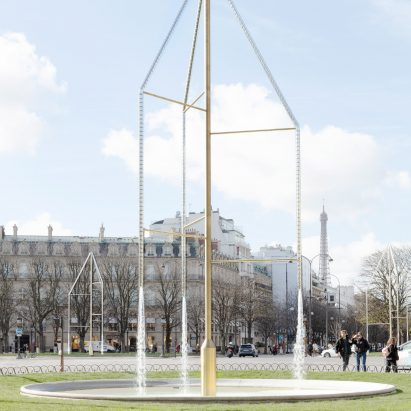 77b8400153 Bouroullec brothers design Paris fountains with 3,060 Swarovski crystals