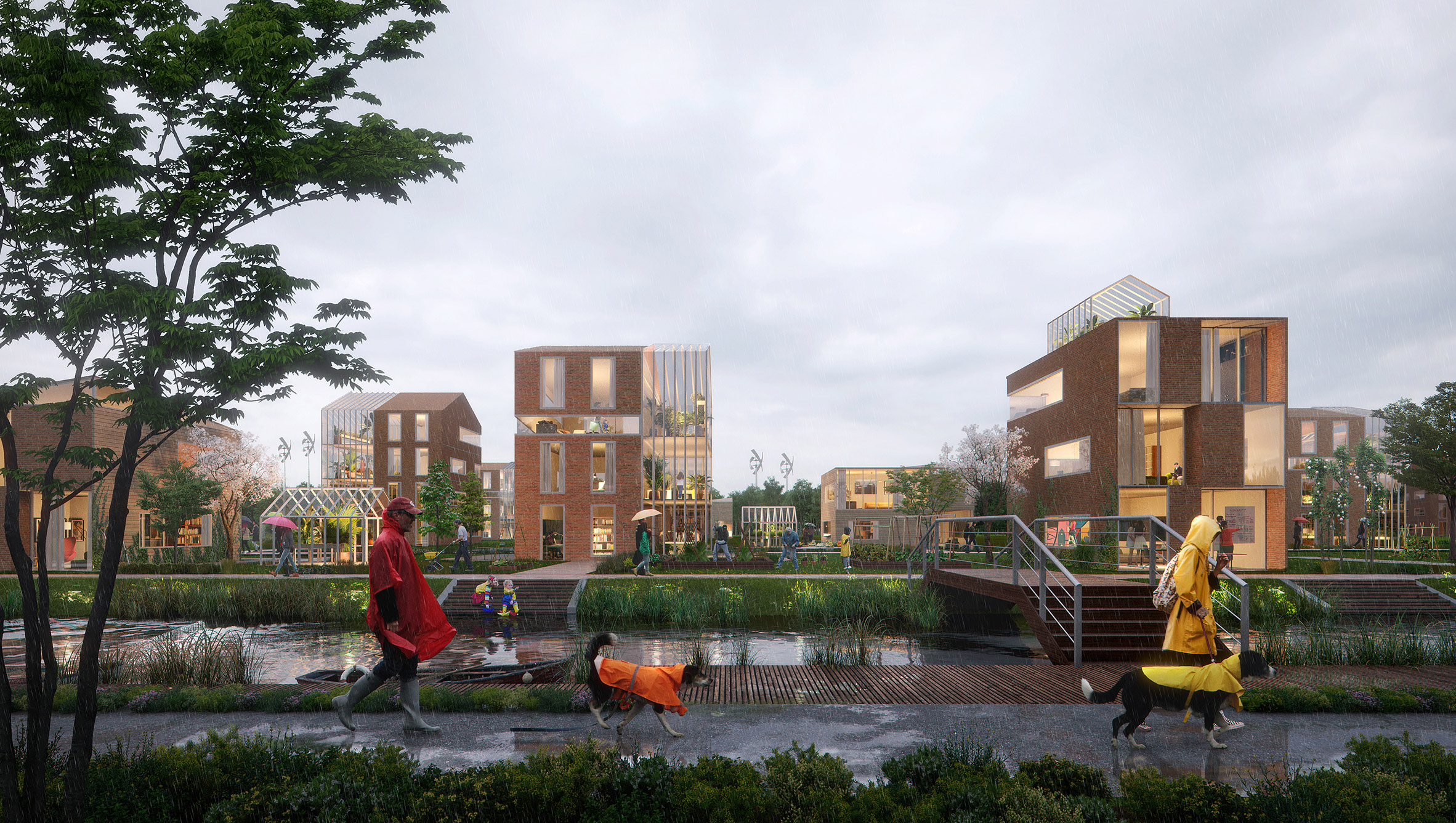 Brainport Smart District masterplan for smart neighbourhood by UNStudio for Netherlands