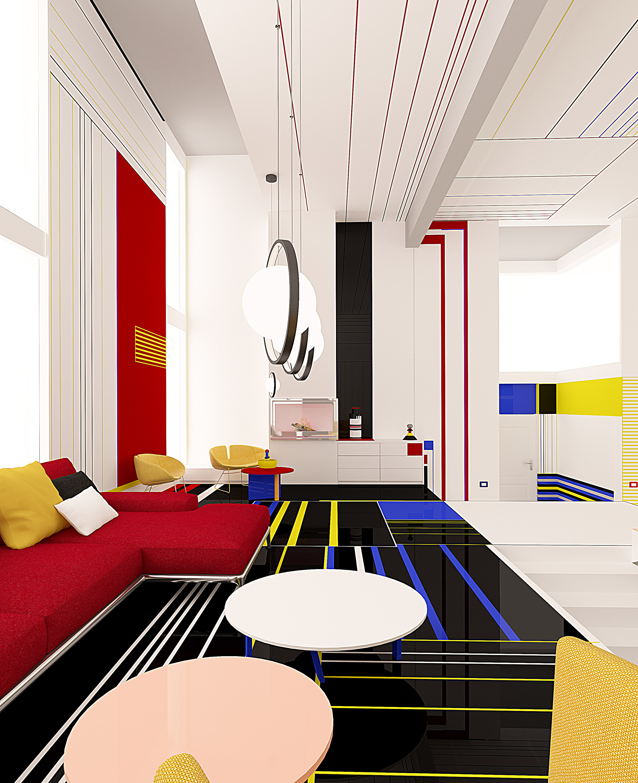Breakfast With Mondrian apartment by Brani & Desi