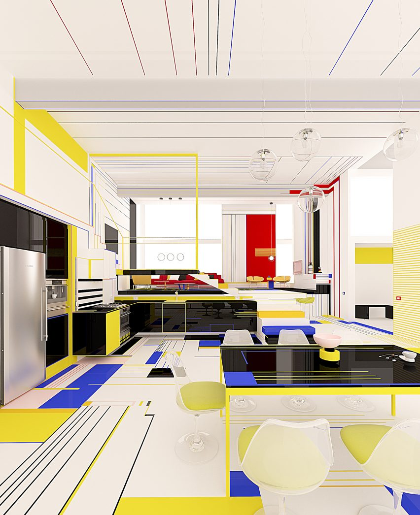 Breakfast With Mondrian apartment by Brani & Desi