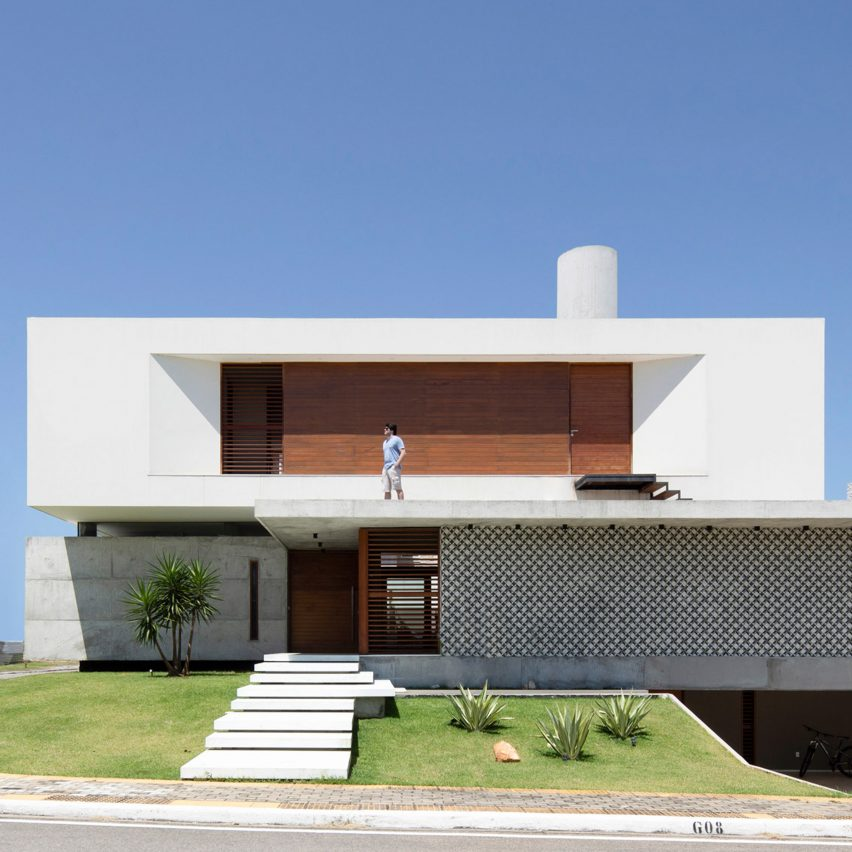 Martins Lucena uses slatted wood and tile screens to let the breeze into IF House in Brazil