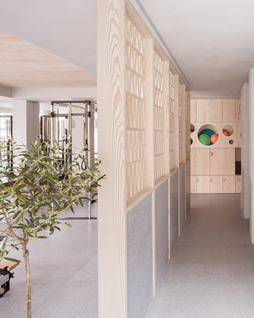 Interiors of Core Kensington pilates studio, designed by Studio Wolter Navarro