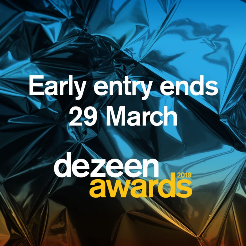 Only two weeks left to get early entry discounts for Dezeen Awards 2019