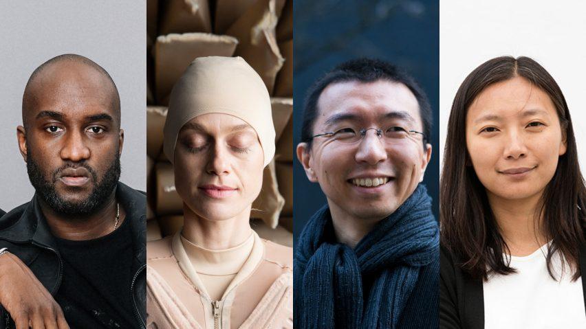 Dezeen Awards 2019 judges Virgil Abloh, Lucy McRae, Sou Fujimoto and Jing Liu