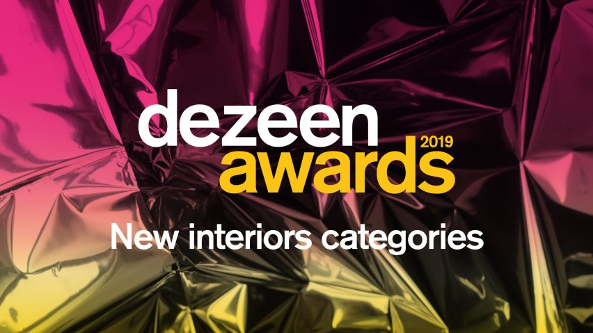 Dezeen Awards 2019 new interiors categories announcement