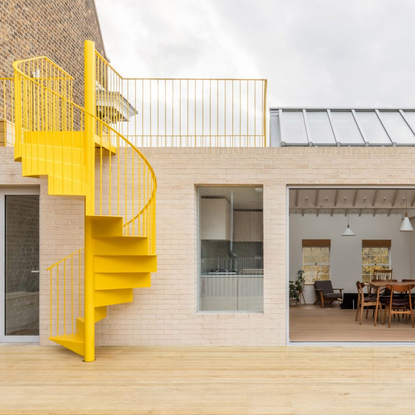 Dezeen Weekly features a yellow spiral staircase and an ?11 million car