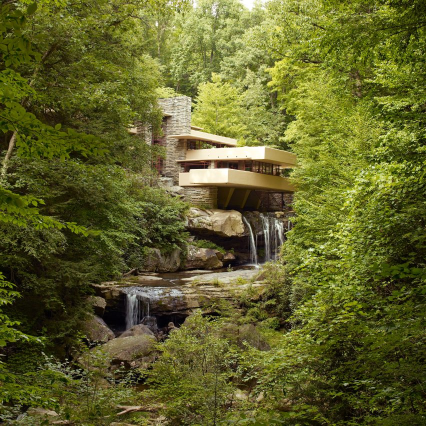 Waterfall architecture: Fallingwater by Frank Lloyd Wright