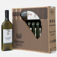 Garçon Wines create flat wine-bottle case that's greener to ship