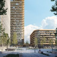 Mecanoo designs copper-coloured tower alongside Frankfurt station