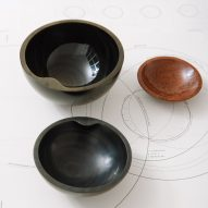 Frida Escobedo designs trio of hand-carved obsidian drinking vessels