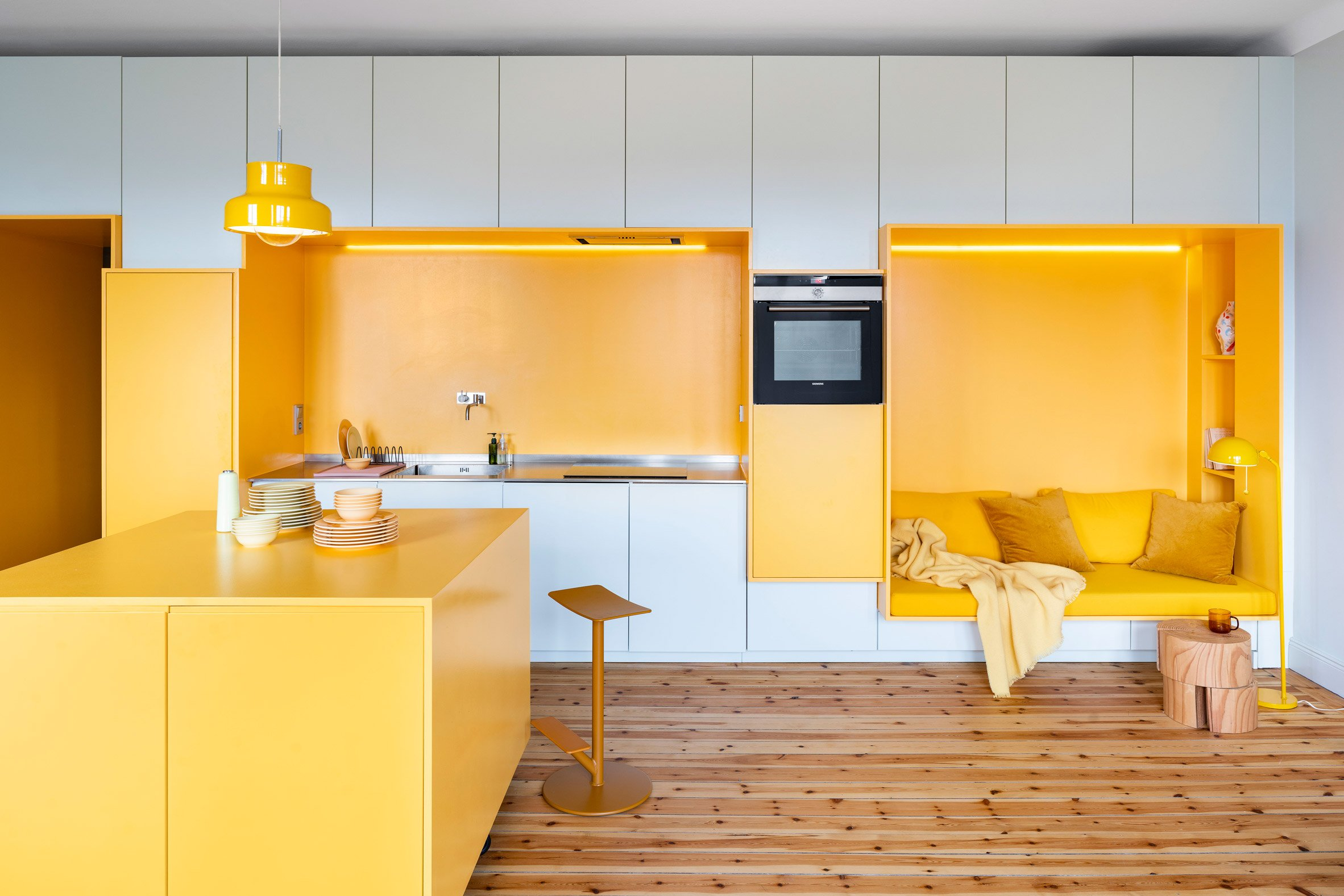 Function Walls apartment, designed by Lookofsky Architecture