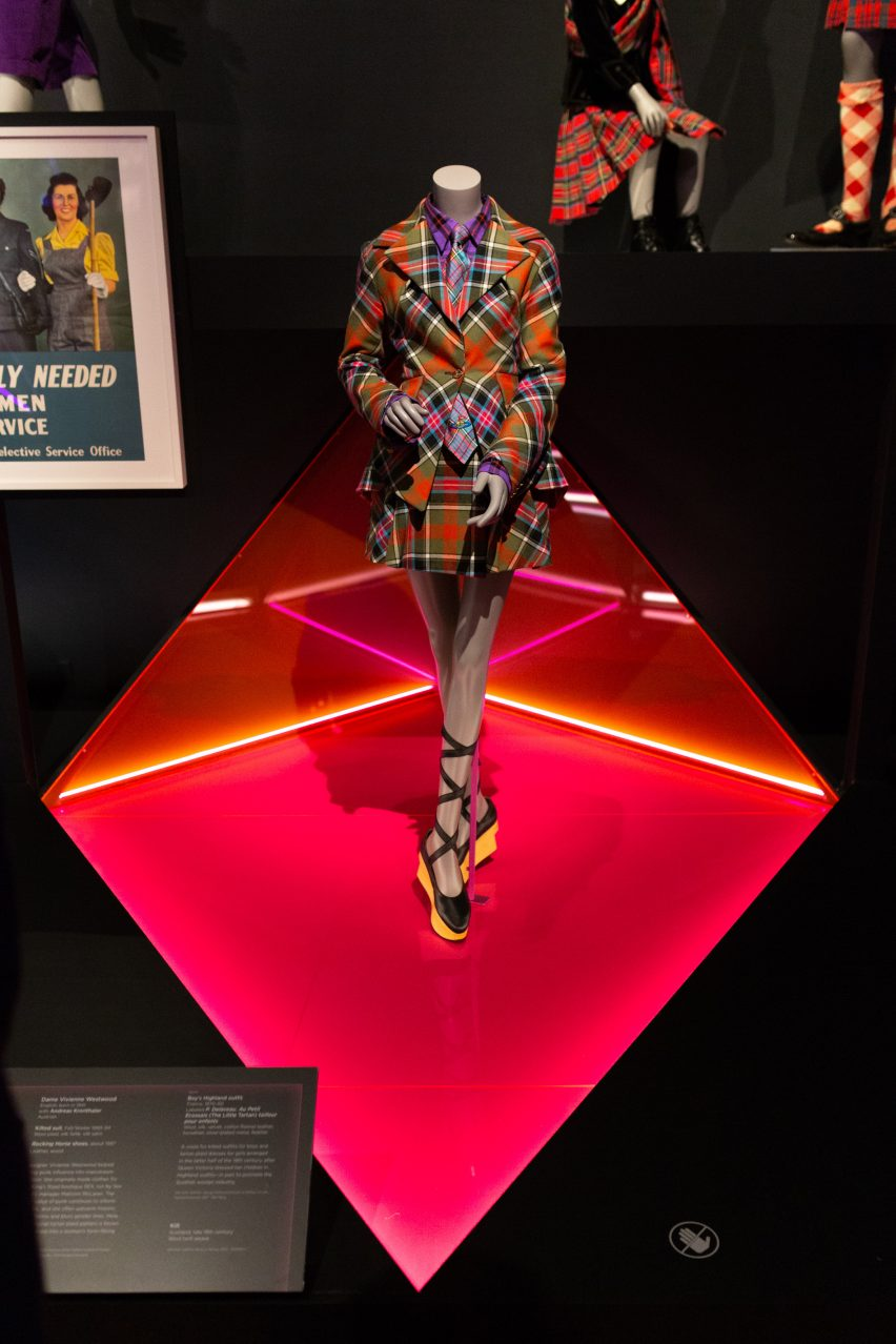 Tartan suit by Vivienne Westwood and Andreas Kronthaler