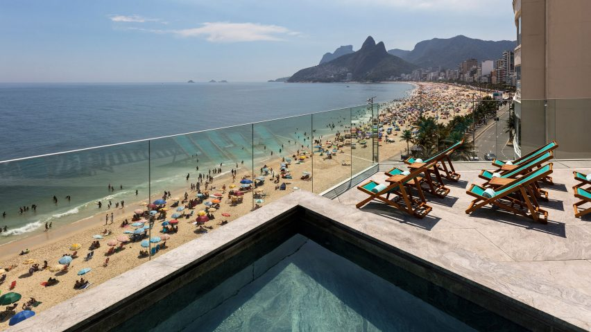View from the roof terrace at Hotel Arpoador in Rio de Janeiro
