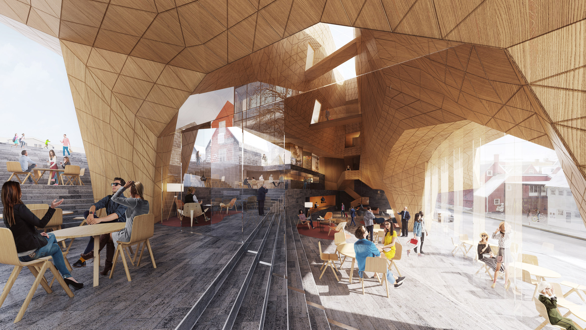 Visuals of Hotel Tórshavn extension by Henning Larsen