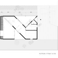 Ground floor and first floor plan of House in Sonobe by Tato Architects