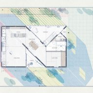 Site plan of House in Sonobe by Tato Architects