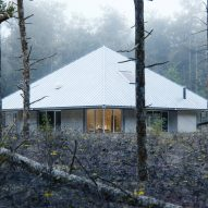 WOJR envisions House of the Woodland topped with huge roof for Massachusetts forest