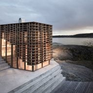 Atelier Oslo wraps House on an Island in gridded timber facade