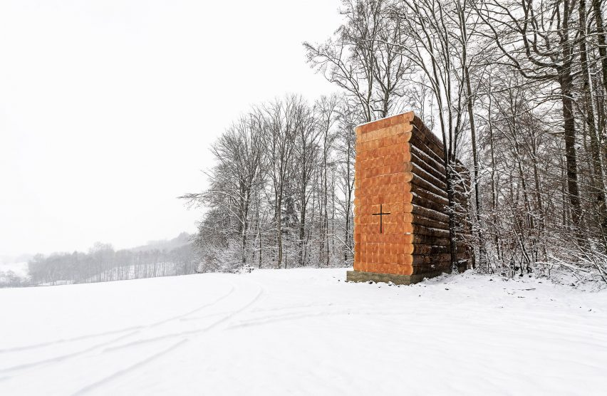 Wooden Chapel by John Pawson in Bavaria, Germany