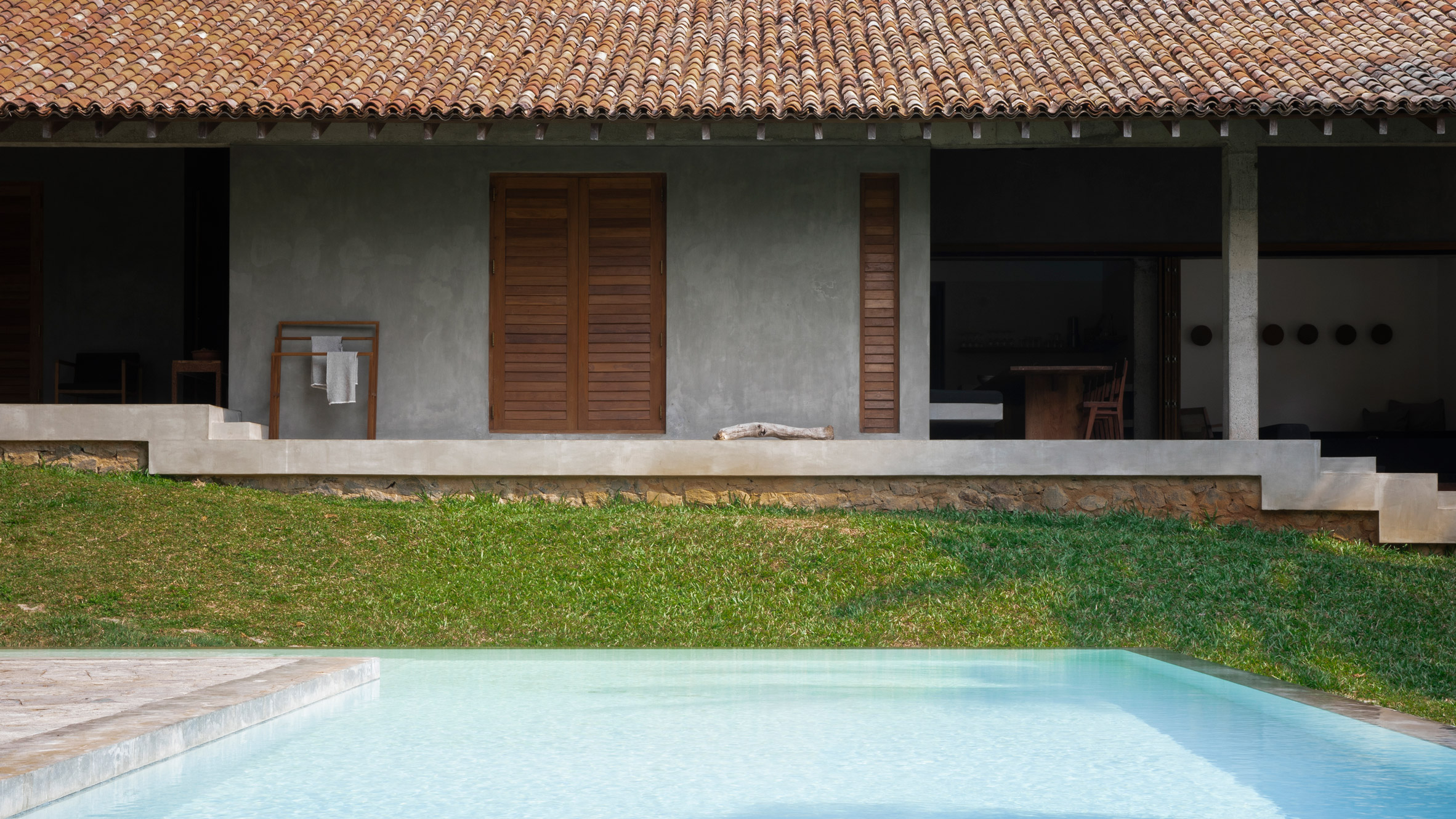 Concrete Surfaces Evoke Rough Luxury Inside Sri Lanka S K House