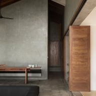 "Concrete surfaces create ""rough luxury"" inside K House in Sri Lanka"