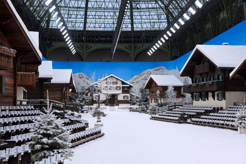 Karl Lagerfeld transforms Paris' Grand Palais into a winter wonderland for final Chanel show