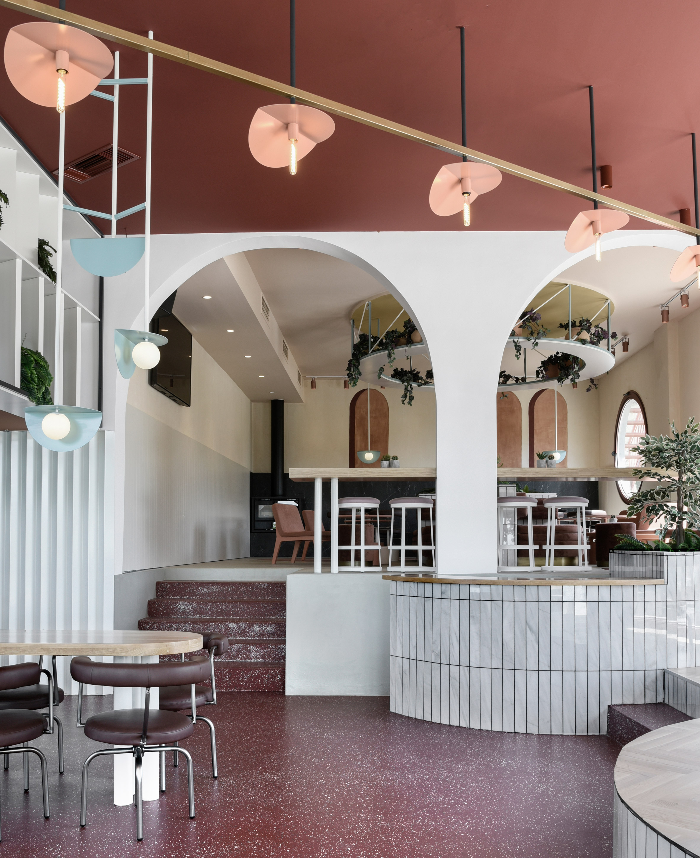 Interiors of Lofos cocktail bar designed by Ark4Lab of Architecture
