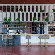 Interiors of Lofos bar designed by Ark4Lab of Architecture