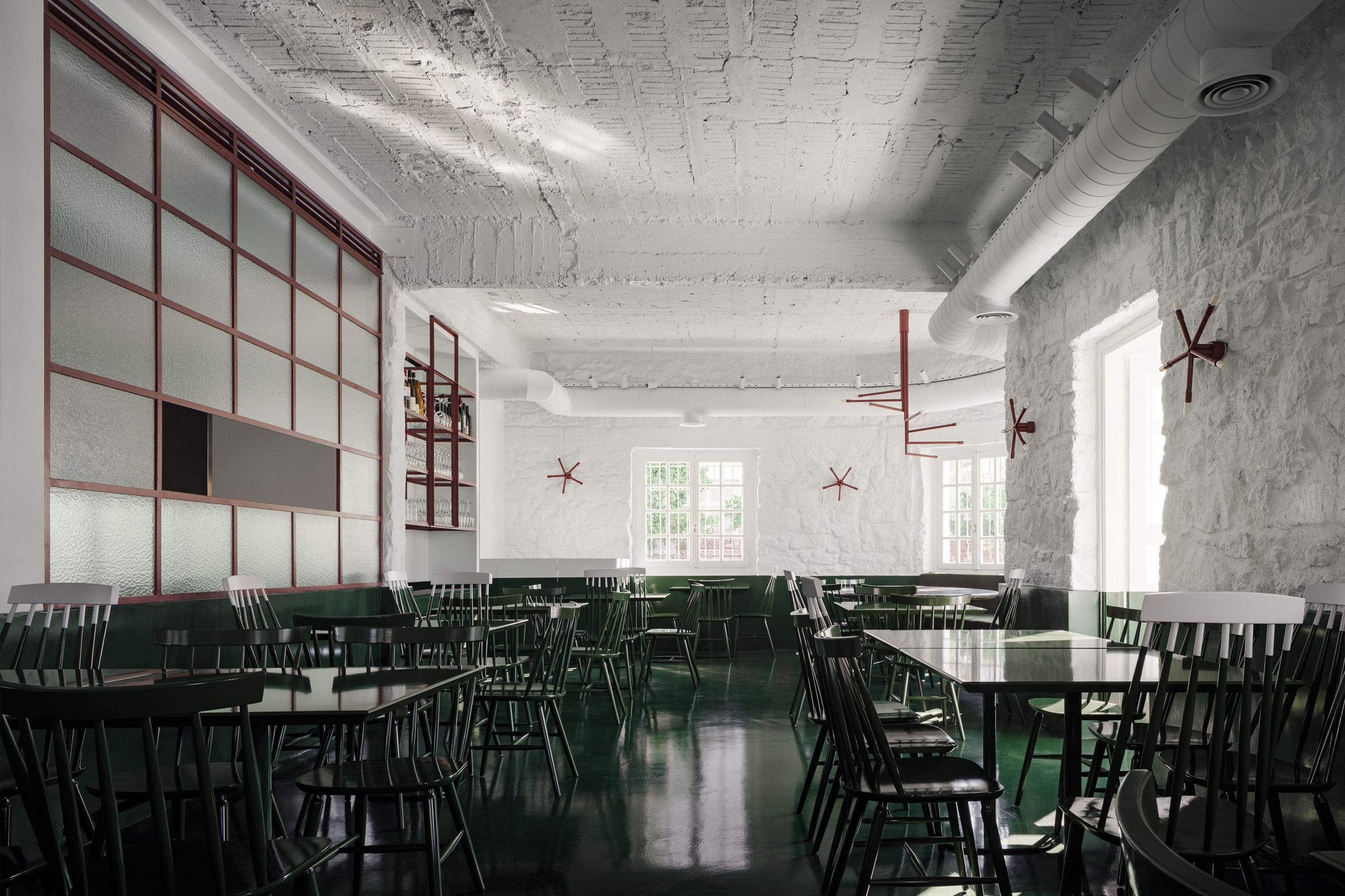 Interiors of Lollo's Atene restaurant designed by AK-A