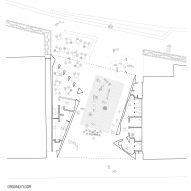 Ground floor plan of Maitland Riverlink by CHROFI and McGregor Coxall
