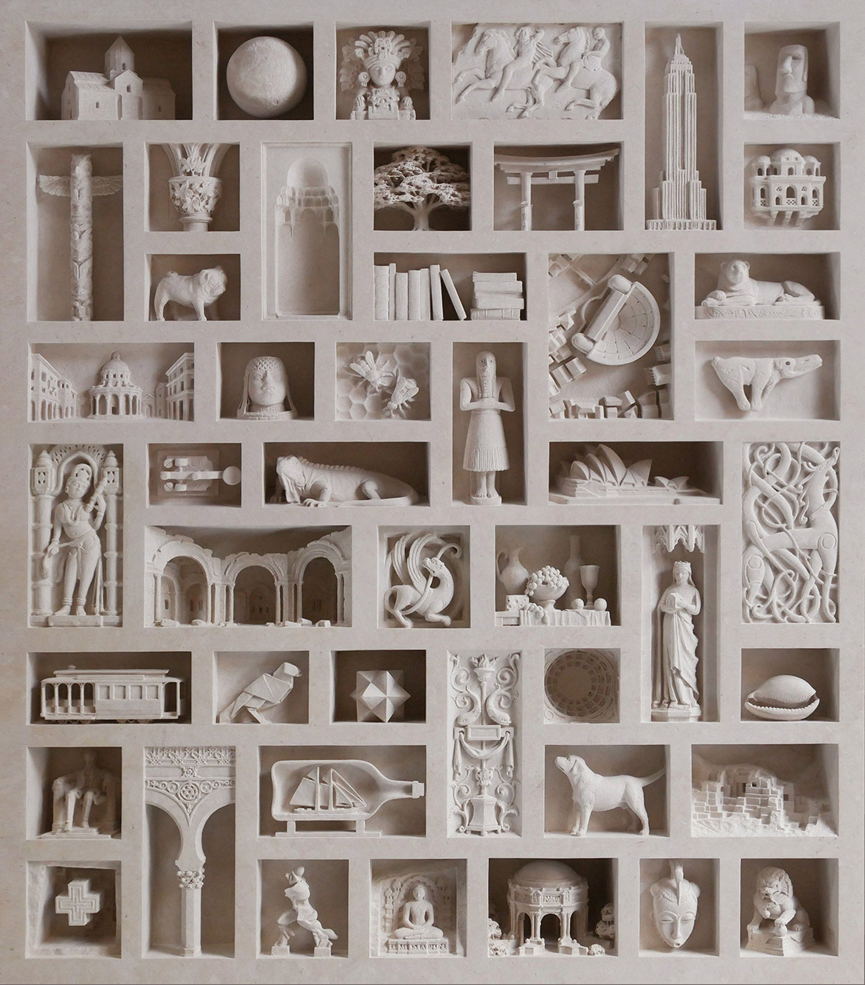 Architectural sculptures by Matthew Simmonds