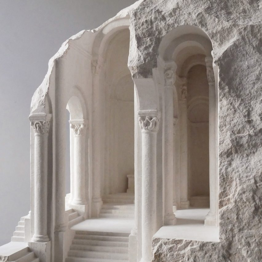 Architectural sculptures by Matthew Simmonds