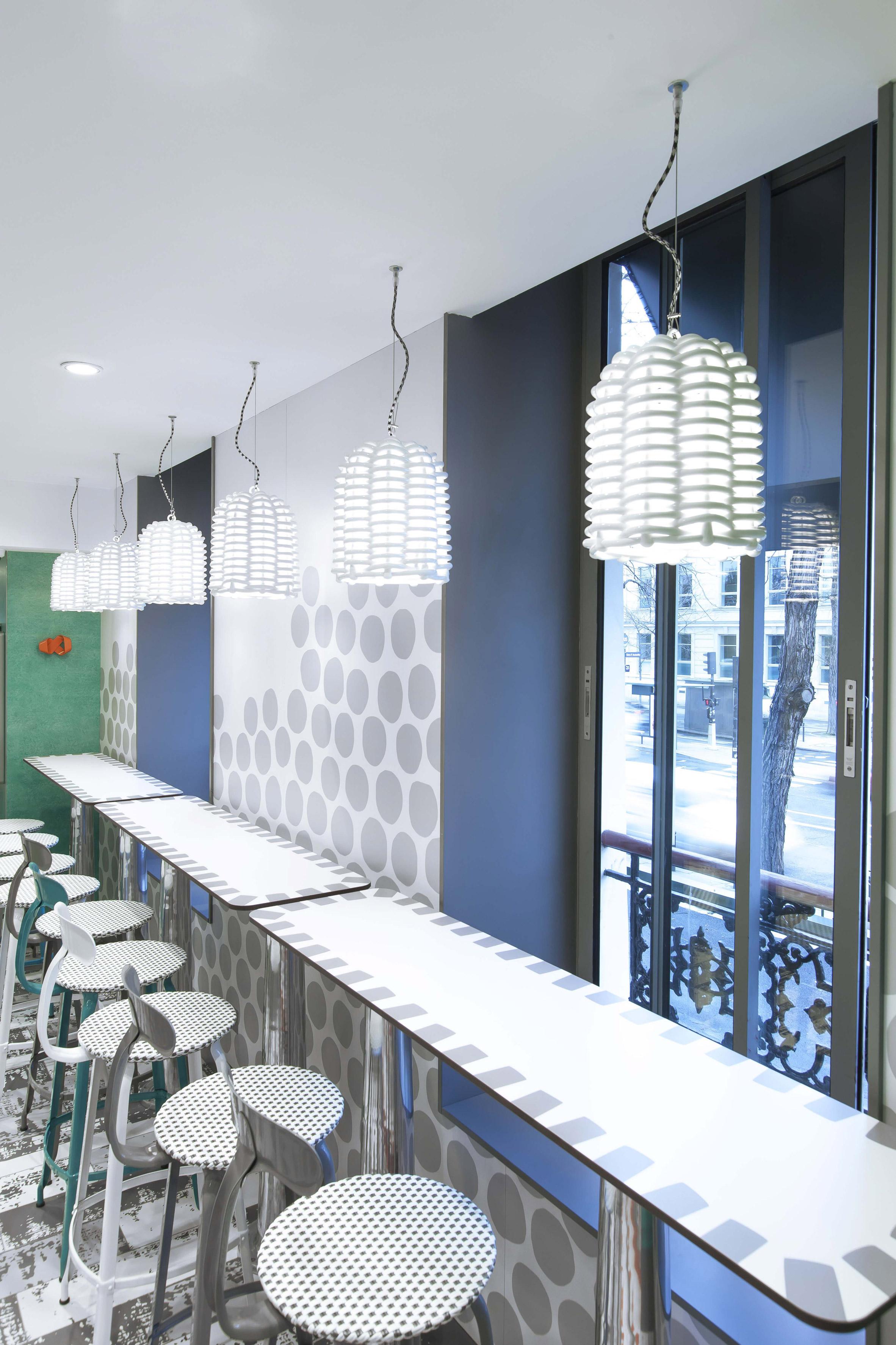 Interiors of McDonald's Austerlitz designed by Paola Navone