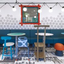 Interiors of McDonald's Austerlitz designed by Paola Navone