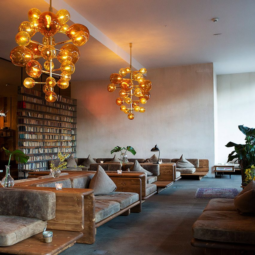 Interiors of the Michelberger hotel in Berlin