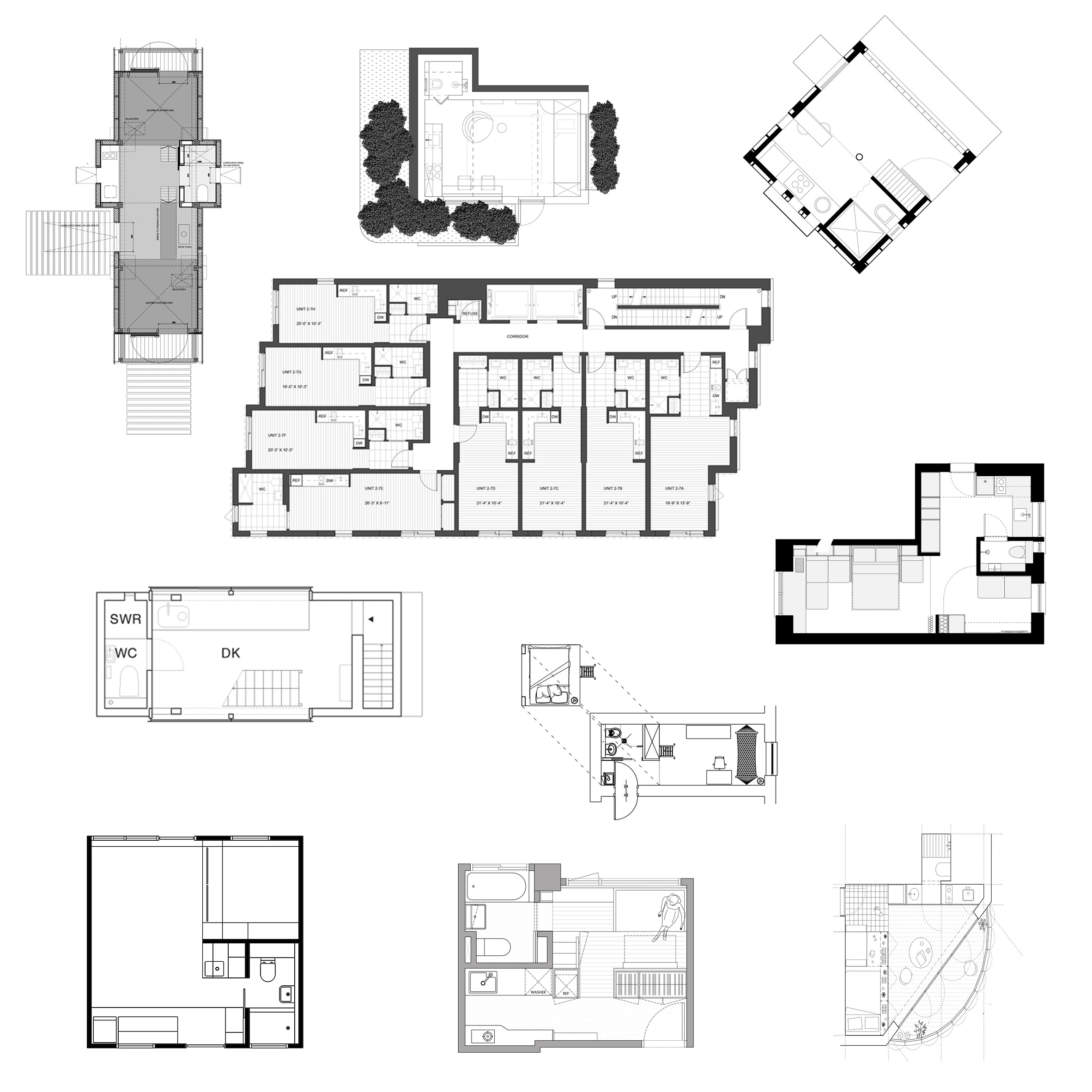 12 micro home floor plans designed to save space
