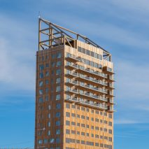 Mjøstårnet by Voll Arkitekter in Brumunddal, Norway, has been verified as the world's tallest timber building by the Council on Tall Buildings and Urban Habitat.