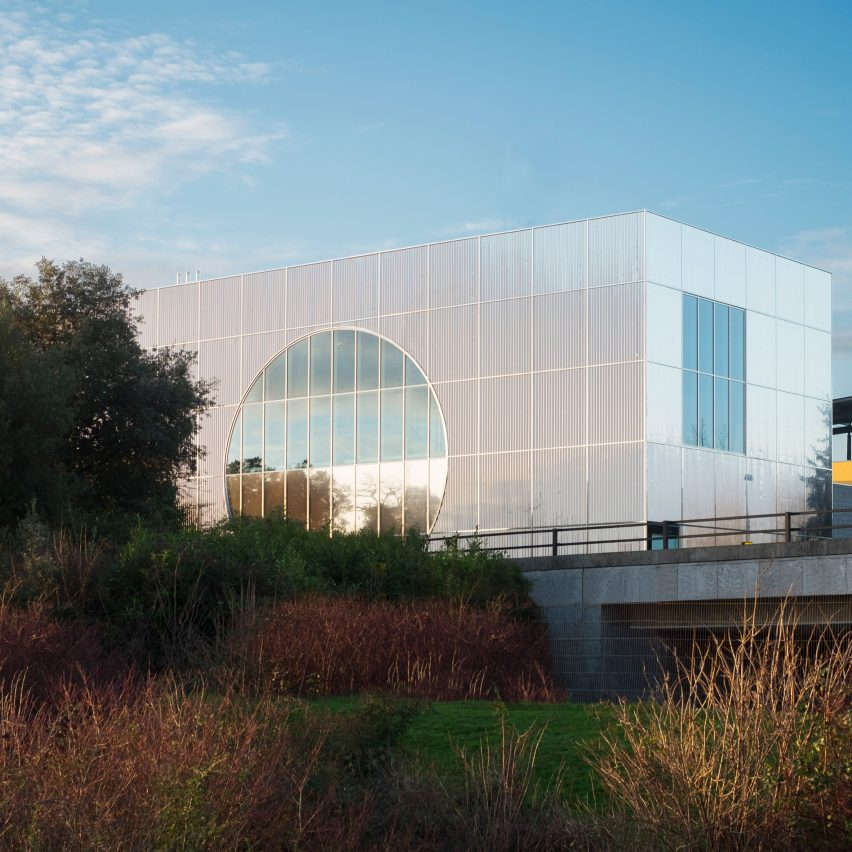 6a Architects completes geometric silver extension to MK Gallery in Milton Keynes