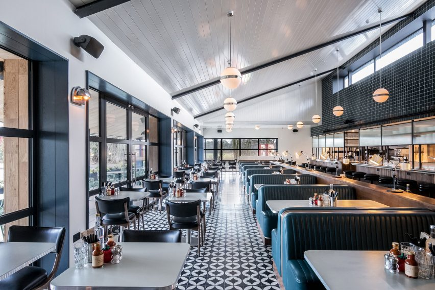 Interiors of Mollie's Motel and Diner by Soho House