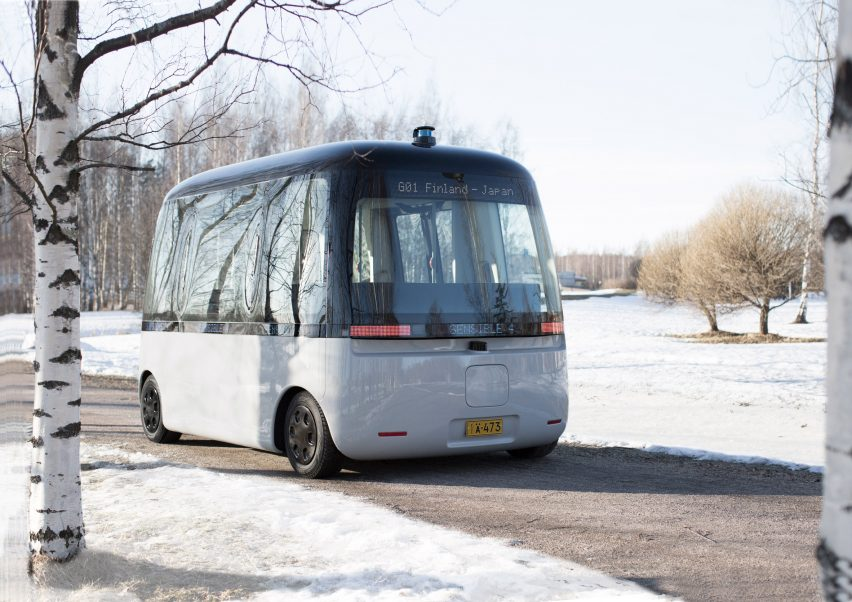 Muji and Sensible 4 debut Gacha self-driving bus in Helsinki