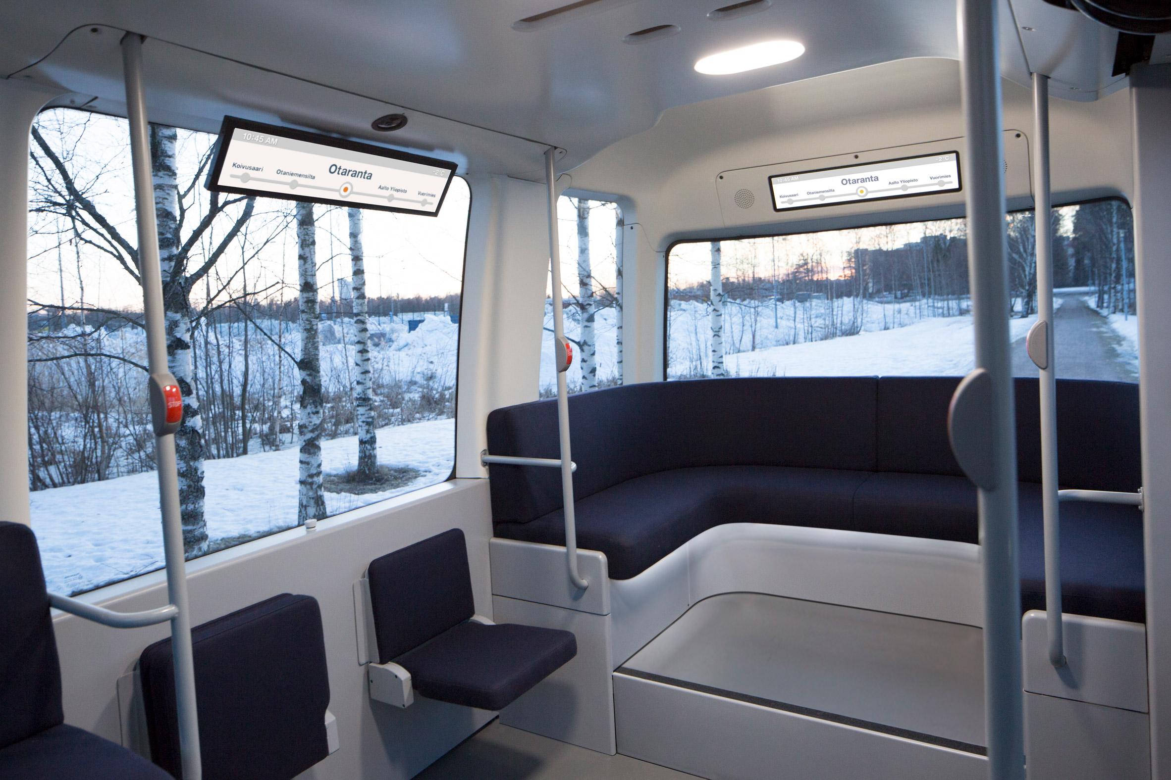 Muji's driverlessGacha bus takes to the roads inHelsinki